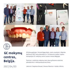 GC Praktiniai ir teoriniai mikro protezavimo ir estetinio plombavimo mokymai Belgijoje