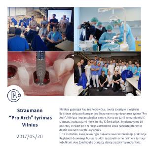 """Straumann """"Pro Arch"""" : viso žandikaulio prarastų dantų atstatymas implantais"""